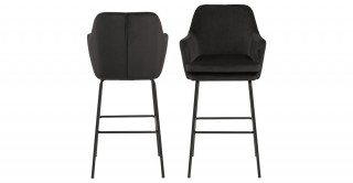 Chisa  Bar Chair Grey