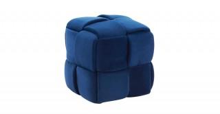 Ross Ottoman Dark Blue