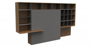Aulenti Cabinet Walnut/Grey