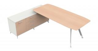 Lipa Manager Table Oak/White