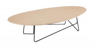 Tube Oval Coffee Table Oak