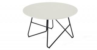 Tube Round Coffee Table White