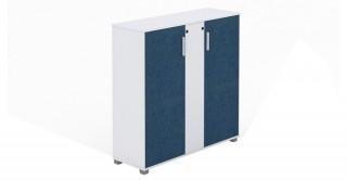 M Cabinet White/Dark Blue
