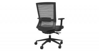 Iron Office Chair Black