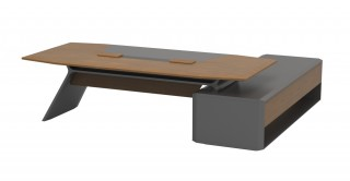 Aulenti Manager Table Walnut/Grey