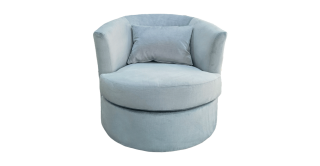 Lacy Swivel Arm Chair Blue