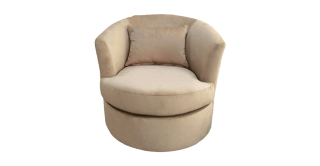 Lacy Swivel Arm Chair Taupe