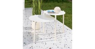 Ella Side Table White Large