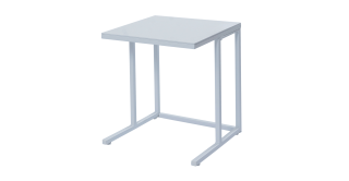 Carre Side Table White