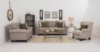 Brescia  Sofa Set Grey