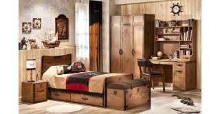 Cilek Black Pirate Brown Kids Bedroom Set