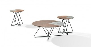 Jensen Ceramic Coffee Table & 2 End Tables