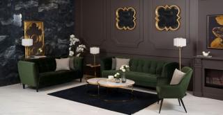 Jonna Green Sofa Set