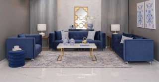 Fancy  Sofa Set Blue