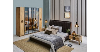 Antigo Bedroom Set With Wardrobe