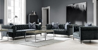 Auckland  Sofa Set Grey