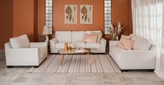 Thompson  Sofa Set White