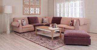 Oslo Corner Sofa Pink/Purple