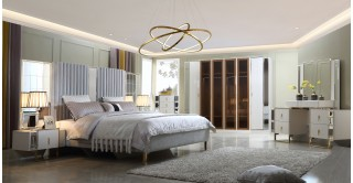 Drake Bedroom Set With Wardrobe & Chest Of Drawers