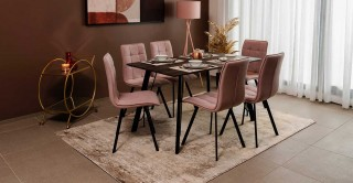 Angle Dining Set - Grey