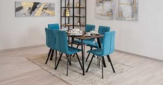 Angle Dining Set, Blue