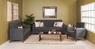 Stockholm Sofa Set, Grey