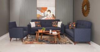 Stockholm Sofa Set, Blue