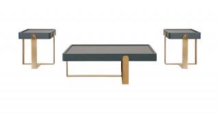 Bodrum 1Ct+2Et Set - Grey/Gold
