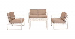 Plagio Sofa Sets - White