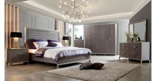 Mia Bedroom Set 6Pcs - Grey