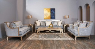 Siena 6 Pcs Sofa Set Blue