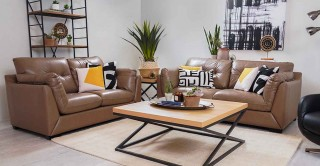 Wisdom Sofa Set Light Brown