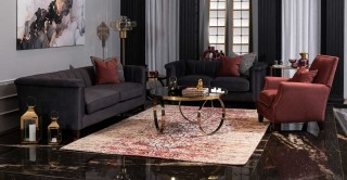 Paulo Sofa Set Dark Grey