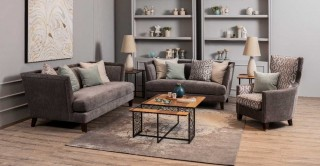 Derlo Sofa Set Grey