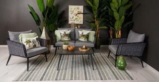 Bora Sofa Set 4Pcs + Coffee table