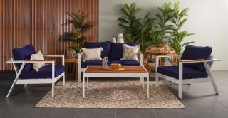 Wall Sofa Set 4Pcs + Coffee table
