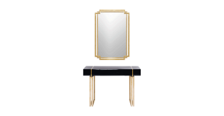 Cheska Console With Mirror