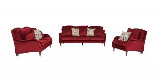 Toledo Sofa Set Burgundy