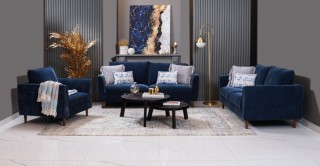 Parma 3+2+1 Seater Sofa Set Blue