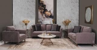 Parma 3+2+1 Seater Sofa Set Grey