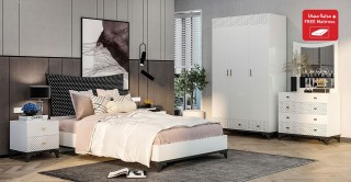 Heaven Kids Bedroom Set White/Black