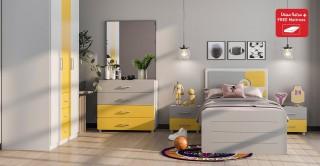 Zoey Kids Bedroom Set With Mattress