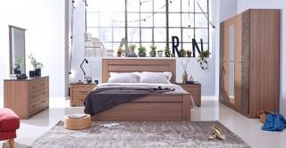 Kayna Bedroom Set Walnut