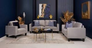 Alexa Sofa Set Grey