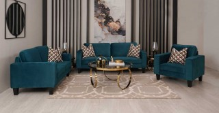 Alexa Sofa Set Blue