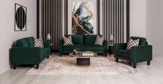 Alexa Sofa Set Green
