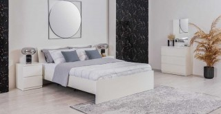 Luna Bed Room Set Gloss White