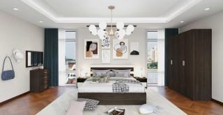 Logan Bedroom Set Walnut 5Pcs