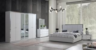 Eva Bedroom Set With Wardrobe, 5 Pieces