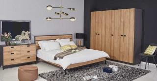 Isha Bedroom Set Oak